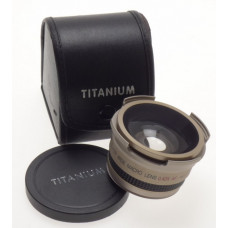 TITANIUM SUPER WIDE MACRO 0.42 X AF AUXILLARY LENS CASE CLEAN GLASS 46mm MOUNT