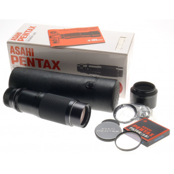 ASAHI PENTAX SUPER-MULTI-COATED TAKUMAR-ZOOM 1:4.5/85-210mm BOX CASE HOOD FILTER
