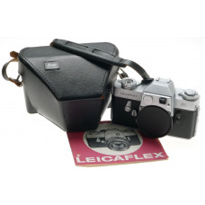 LEICA 1st VERSION LEICAFLEX CHROME 35mm SLR CAMERA BODY CASE INSTRUCTION MANUAL
