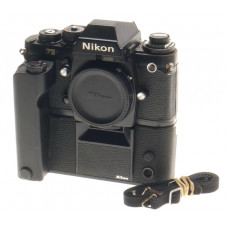 35mm FILM CAMERA NIKON F3 BLACK BODY WITH MOTOR DRIVE WINDER MD-4 PRISM FINDER