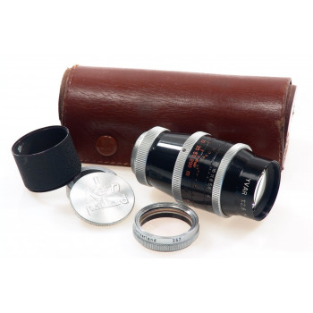 BOLEX YVAR H16 REFLEX CAMERA LENS 2.8/75mm CAPS CASE NR