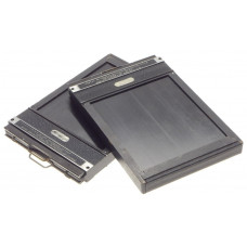 TRIXALE 4x5 film plate holders pair of 2 units well used for linhof sinar No 5