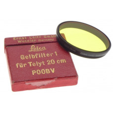 LEICA Gelbfilter 1 for Telyt 20cm POOBV Leitz Wezlar Yellow filter in box clean