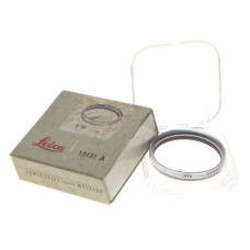 LEICA 13131 UVa E39 Leitz camera lens filter in box Silver used clean