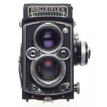 ROLLEIFLEX 3.5 f=75mm Zeiss Planar TLR medium format film camera 3.5/75 metered