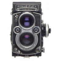 3.5F Rolleiflex TLR camera Planar f=75mm coated lens grip hood case strap kit