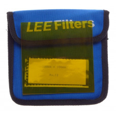 Yellow LEE filter 100x100 mm pro glass 4x4 No:12 film movie cameras excellent