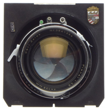 PLANAR 1:3.5 f=135mm Zeiss coated medium format lens Synchro-Compur shutter cam