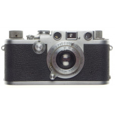 IIIF 3f Leica screwmount 35mm film rangefinder chrome camera 3.5 ELMAR f=5cm cap