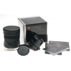 BLACK SUMMILUX 1:1.4/50mm ASPH. 6-Bit NEW LEICA LENS BOX PAPERS 11891 GUARANTEE