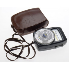 LUNASIX GOSSEN LIGHT EXPOSURE METER LEATHER CASE EXCELLENT CONDITION CLEAN STRAP