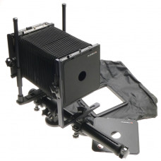 PLAUBEL 4x5 FIELD CAMERA BLACK MONORAIL WIDE ANGLE BELLOWS LENS BOARD SHIFT TILT