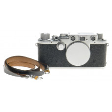 LEICA IIIf RANGEFINDER 35mm FILM CAMERA BODY CHROME CAP STRAP CLEAN BLACK DIAL