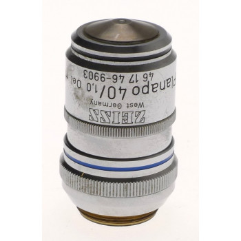 ZEISS MICROSCOPE OBJECTIVE LENS USED 40x PLANAPO 40/1,0 Oel m.l 46 17 46 AXIO