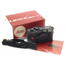 LEICA BLACK CHROME M4-P RANGEFINDER 35mm FILM CAMERA BOX LEITZ INTRUCTIONS STRAP