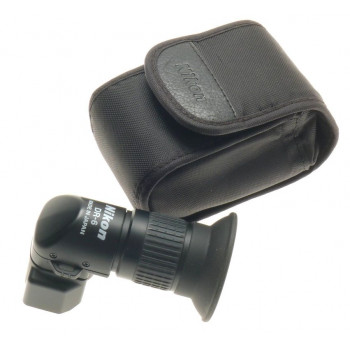 NIKON DR-6 BLACK FOCUSSING EYEPIECE 1x, 2x MAG RIGHT ANGLE VIEW FINDER CASE MINT