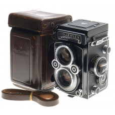 ROLLEIFLEX TLR WHITE FACE 3.5 F RARE MINT XENOTAR 1:3.5/75mm CASE JUST SERVICED