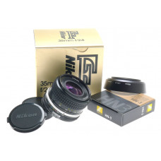 AI NIKON 35mm f/2.8 SLR CAMERA LENS 2.8/35mm FITS DF DIGITAL N-3 HOOD CAPS EXECE