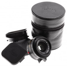 LEICA ELMARIT-M 1:2.8/28 ASPH. E39 CAMERA LENS f=28mm 6-Bit HOOD 11606 CASE CAPS
