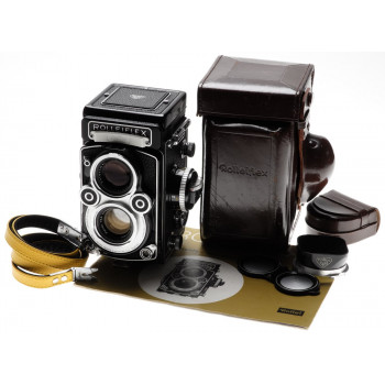 Rolleiflex TLR white face camera 3.5F rare mint- 12/24 Zeiss Planar 3.5/75mm kit