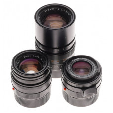 Leica Summicron-M 2/35, 50mm, Elmarit-M 2.8/90mm camera lenses filters