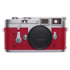 Leica M3 Just Serviced Rangefinder 35mm film camera body re skinned Red #1008511