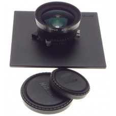 NIKKOR-SW 65mm 1:4 Nikon SINAR lens board 4x5 wide angle caps excellent 1:4/65mm