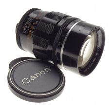 Canon 100mm 1:2 M39 screw mount 2/100 mm rangefinder coupled camera lens black