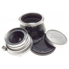 Mint- f3.5 Summaron coated lens f=3.5cm with hood and Leica caps 3.5/35mm wide