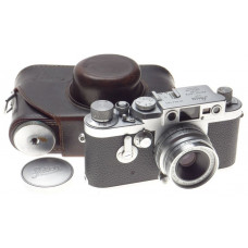 IIIG Leica Chrome 3g Camera with SUMMARON 3.5/3.5cm Compact lens f=35mm case cap