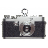 Leica Ig Leitz 1g M39 Screw Mount 35mm Film Camera Body ELMAR 1:3.5 f=5cm finder