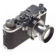 Just Serviced 3c Leica IIIc camera 35mm film Summitar 5cm 1:2 coated lens worker