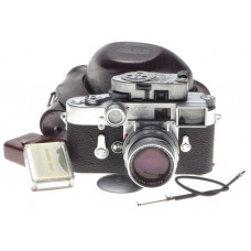 Leica RF M3 camera with DR Summicron 1:2/50mm macro goggles Leitz meter case kit