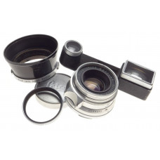 Goggles Summicron 2/35mm Coated Leica M bayonet mount camera lens f=35mm hood