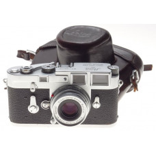 Elmar 2.8/50 f=50mm lens Leica M3 Chrome 35mm film camera rangefinder body CLEAN