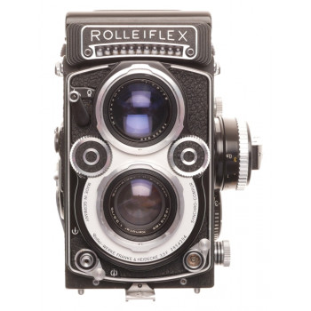 3.5 F Rolleiflex White Face TLR camera RARE Xenotar 1:3.5/75mm Just Serviced kit