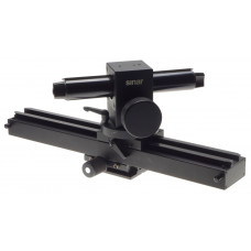 SINAR heavy duty solid base camera rail with adjustable rotating head rare