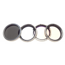 Rolleiflex RII set of4  Filters lenses Rollei Rolleinar B1 R2 chrome fits Planar