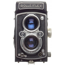 Rolleiflex TLR vintage camera Zeiss Jena Tessar 1:3.5f=75mm red T Stunning used