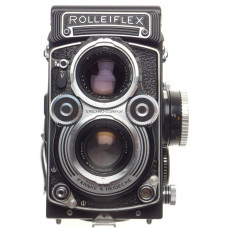 TLR Rolleiflex 3,5F Zeiss Planar 3.5/75mm coated lens 120 film camera with hood
