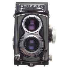 Tessar 1:3.5/75mm Grey Rolleiflex T 120mm film camera case and neck strap Zeiss