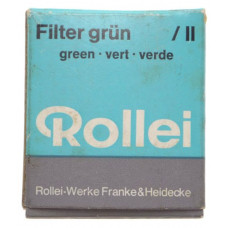 Rolleiflex ROLLEI GRUN Green TLE lens filter boxed papers RII exellent condition