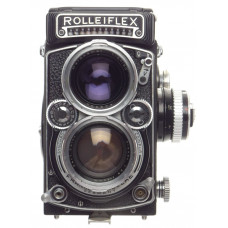Rolleiflex 2.8 TLR camera Zeiss Planar 2.8/80mm lens case strap flash dream kit