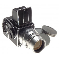 Hasselblad 500 C Chrome Body 6x6 Sonnar Zeiss 1:4 f=150mm Silver lens 4/150 WLF