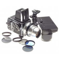 HASSELBLAD chrome 500 C Sonnar 1:4=150mm camera kit with accessories beautiful