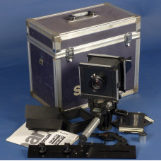 4x5 large format field film camera SINAR F black body Sironar-N 1:5.6/210mm lens