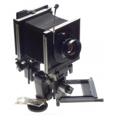 SINAR F Black camera 4x5 body Chrome Rail SYMMAR-S 1:5.6/210mm Schneider lens MC