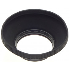TIFFEN PROFESSIONAL LENS HOOD SHADE 41/2 INCH RUBBER SCREW MOUNT COLLAPSIBLE
