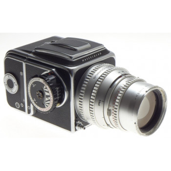 HASSELBLAD 500 C MEDIUM FORMAT FILM CAMERA CHROME ZEISS SONNAR 1:4 f=150mm METER