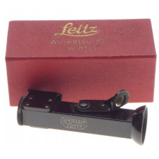 BOX VERY CLEAN WINKELSUCHER WINTU ANGLED VIEWFINDER LEICA BLACK PAINT RARE LEITZ